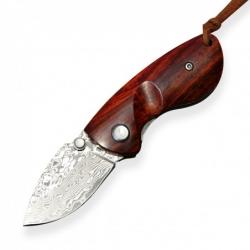 malý lovecký zavírací nůž Dellinger SMALL KILLER VG10 Damascus