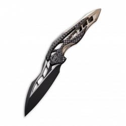 zavírací nůž WEKNIFE Arrakis 906 CF-B, M390 Black Two-Tone Blade