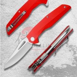 nůž zavírací Dellinger Coyotte Flipper - RED 8Cr14MoV