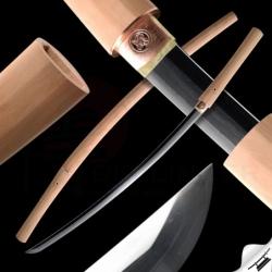 Shirasaya 保存拵 Japanese Sword - Folded Steel, Yokote - Real Suguha Hamon