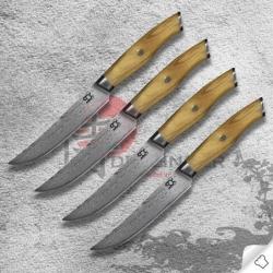 sada 4 steakových nožů SOK Olive Sunshine v dárkové krabici