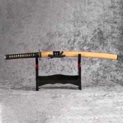 Wakizashi NOBUNAGA z uhlíkové oceli AISI 1045 a imitací hamonu