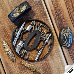 koshirae bamboo, ozdobná výbava samurajského meče