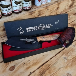 nůž BBQ Dellinger D2 SAND Olive Burgerfest Prague 2021