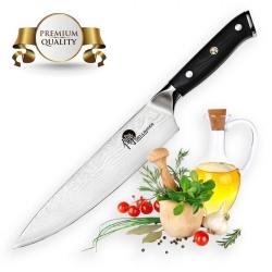 """Gyuto / Chef 8"""" (200mm) Dellinger Samurai Professional Damascus"""