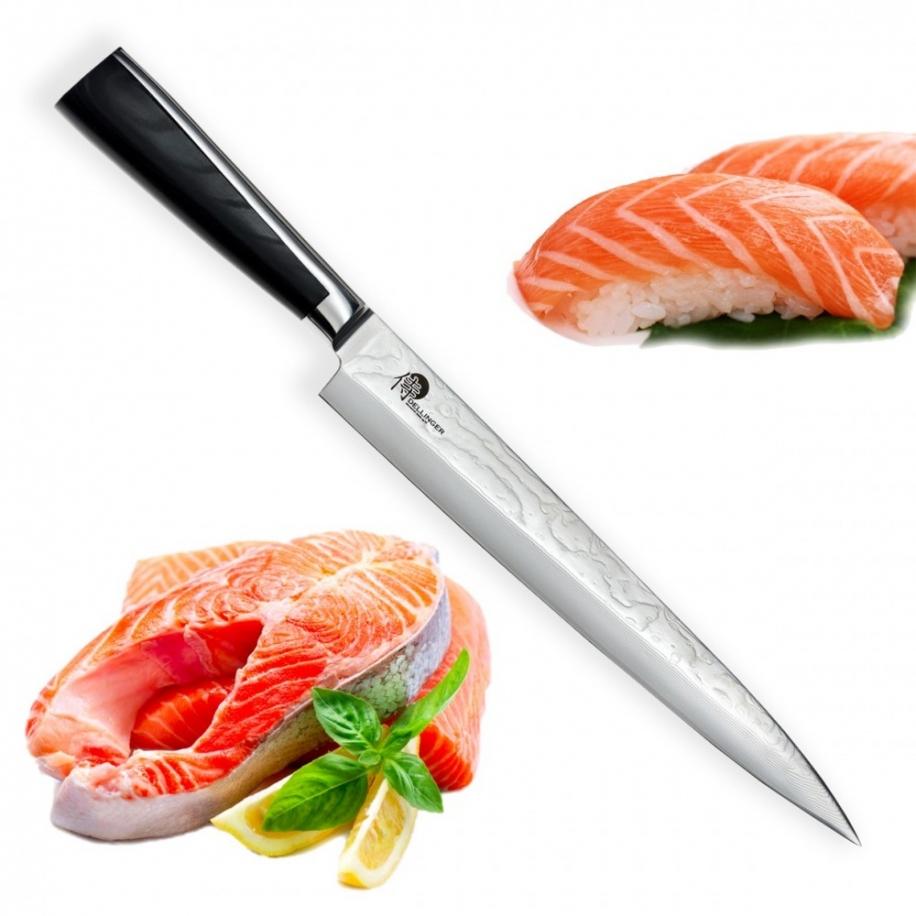 "nůž Yanagiba 9,5"" (240mm) Dellinger Sushi Professional Damascus"
