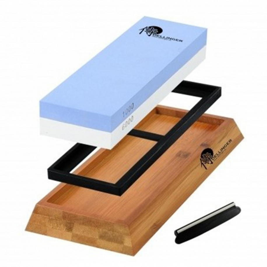 Souprava pro ostření nožů Dellinger Premium 1000/6000 – dva kameny v jednom !