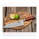 """Kiritsuke / Chef 8"""" (200mm) Dellinger LADDER-Red Professional Damascus"""
