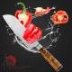 "nůž SANTOKU 7"" (180 mm) Dellinger LADDER Sapele ( White Shadow ) Professional Damascus"