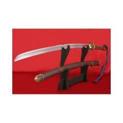 důstojnický meč GUNTO typ I. z uhlíkové oceli AISI 1045 s leštěnou imitací hamonu