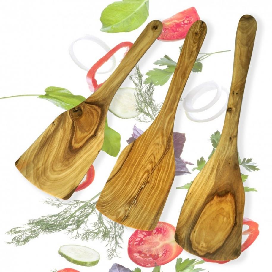 lžíce salátové z olivového dřeva 3 ks