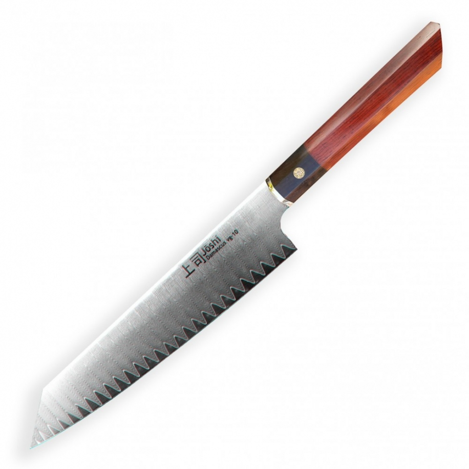 "Kiritsuke / Chef 8"" (205mm) Dellinger JOSHI- Professional Damascus"