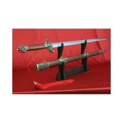 Čínský meč dynastie Qing od firmy Kawashima,nebroušený.Imitace kalení čepele.