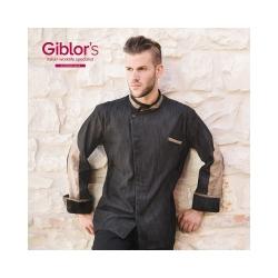 Kuchařský rondon dlouhý rukáv Ulisse Giblor´s - barva černá