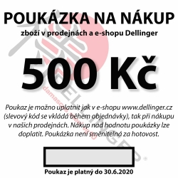 Poukázka na nákup v hodnotě 500 Kč