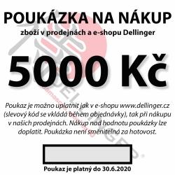 Poukázka na nákup v hodnotě 5.000 Kč