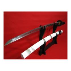 katana SHIRO z uhlíkové oceli AISI 1045 s leštěnou imitací hamonu