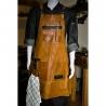kožená zástěra Dellinger SOFT LEATHER BBQ - Sand Vintage Look