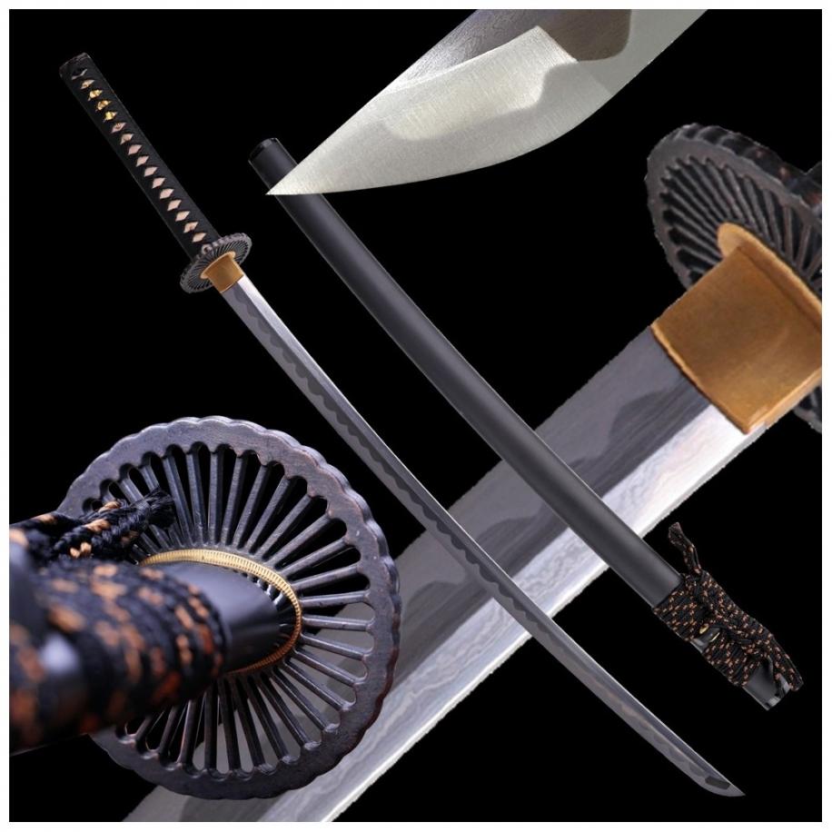 Aika Japanese Sword Folded Damascus T-10 Steel